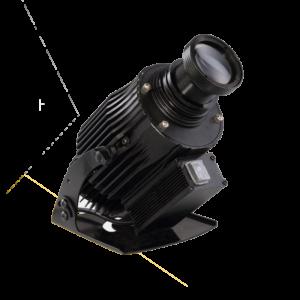 LED projektor 40W 60W 80W drejelig